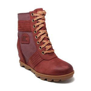 Sorel Lexie Wedge Boots in Madder Brown Womens 8